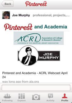 Pinterest and Academia ACRL Webcast