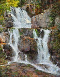 "Katahdin Stream Falls || Steven Hileman, Oil ~ 20"" x 16"""