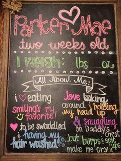 Newborn chalkboard