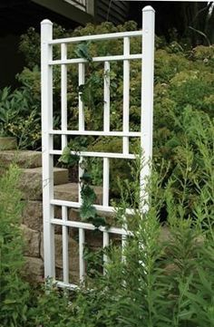 Wellington Trellis White . $55.99. 28 inch W x 74 inch H. Made of 100% PVC.. White - Fully Assembled Made of 100% PVC. Never needs painted, will not chip, fade or peel    28 inch W x 74 inch H. Save 44% Off!