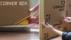 これで、もう段ボール箱を置くときに指をつぶさない!