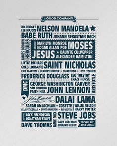 """Adoption themed """"In Good Company""""  letterpress poster"""