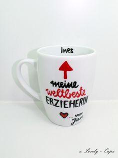 ♥ Abschiedsgeschenk für Erzieherin♥ Tasse weltbeste Erzieherin ♥   Edle Geschenk Tasse für die Erzieherin ♥ als ein kleines Dankeschön für die tolle Kindergartenzeit !  Geschenk Kindergarten...