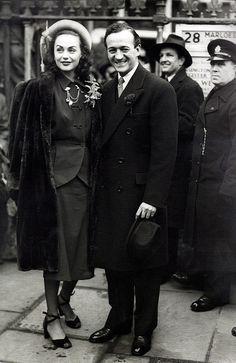 David Niven and Hjordis Tersmeden, 1948