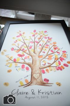 Fingerprint Tree. This is so cool! Great for weddings or anniversary parties...or my family!
