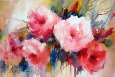 Roses 5, painting by artist Fabio Cembranelli