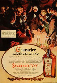 1936 Ad Andrew Jackson Seagram's V. O. Canadian Whiskey - ORIGINAL