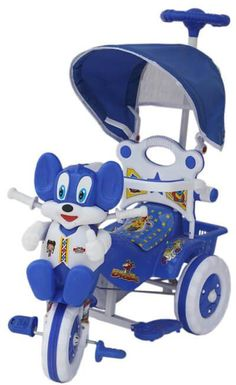 Amardeep And Co Baby Tricycle Cms Yrs W Shade Parental Control Blue I Want That Momma Gift Ideas For 1 Year Old Boys India