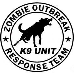 Zombie K9 Unit Decal