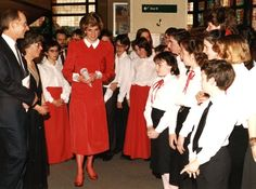 Diana visited the National Children's Orchestras at St David's Hall in Cardiff back in 1986. Read more at http://www.classicfm.com/artists/national-childrens-orchestra-great-britain/pictures/nco-anniversary-archive-pictures/princess-wales-visits-nco/#ODJJlLq4TYJGogCm.99 NCO archive shots