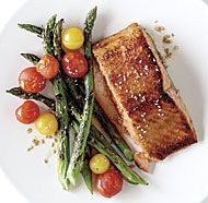 Five-Spice-Glazed Salmon with Sesame Green Beans | Recipe | Green ...