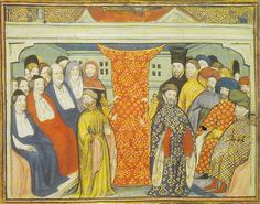 Henry of Bolingbroke,flanked by the lords spiritual and temporal,claims the throne in 1399.From a contemporary manuscript, British Library,Harleian Collection-Henry IV of England-J.S.History of Parliament,House of Commons 1386-1421.