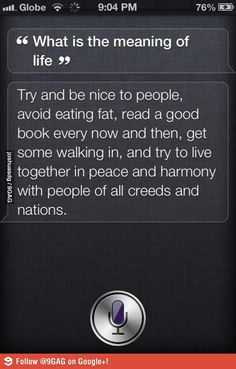 Meaning of Life according to Siri