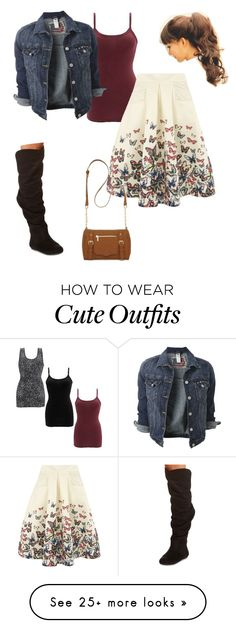 """cute butterfly outfit"" by katyrb on Polyvore featuring mode, BKE core, Jolie Moi, Charlotte Russe et New Directions"