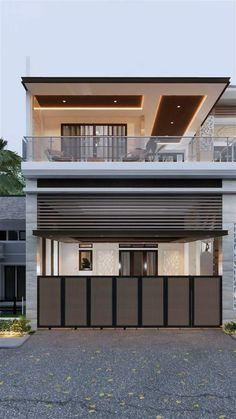 House Arch Design, Architect Design House, Two Story House Design, 2 Storey House Design, Best Modern House Design, House Outside Design, Modern Exterior House Designs, Home Building Design, Bungalow House Design