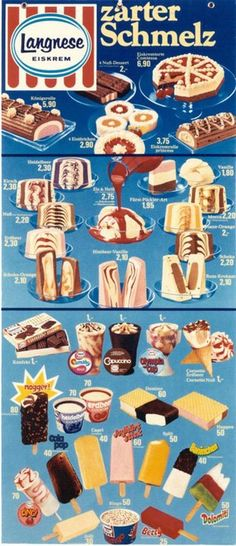 Langnese Eiskarte 1973