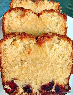 Moist Macadamia  Cherry Bottom Loaf Cake, Line the bottom of your pan with delicious cherries and add all the other goodies and you end up with a delicious super moist cake, full of wonderful flavours!