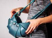 """Женская сумка """"Орешек"""" М (кожа натуральная. цвет голубой). Оригинальные женские сумки ручной работы от OVOLLY"""