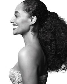 Black and white photos of stars at the Golden Globes by Mert and Marcus - Tracee Ellis Ross Tracey Ellis, Hair Colorful, Curly Hair Styles, Natural Hair Styles, Tracee Ellis Ross, My Hairstyle, Braid Hairstyles, My Black Is Beautiful, Beautiful Body