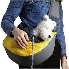 PetsLove Comfortable Polyester Dog Sling Bag Pet Carrier Cat Bag Shoulder Bag for Dog Outside Walking Small Yellow @ You can click image to review more details. (This is an affiliate link and I receive a commission for the sales)