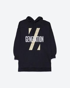 """Super oversized hoodie. """"Z Generation"""" graphic on the front. Drawstring neck. Versatile for both men and women."""
