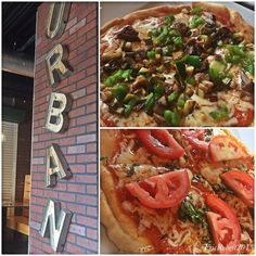 """Urban Bistro - Honolulu, HI, United States. Urban has """"healthy"""" Pizzas! Here the Margherita & Vegetarian (not pictured the Pepperoni)..."""