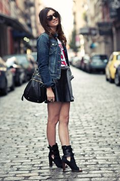 fashion styles city for teens | New York City Fashion and Personal Style Blog: Denim jacket, NY Giants ...