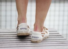 Sperry TopSider canvas flats -- perfect summer espadrille
