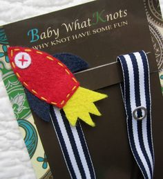 Boy Pacifier Clip Red Rocket Pacifier Clip Space by babywhatknots, $8.75