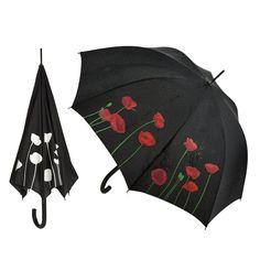We will remember them. Poppy colour change umbrella.