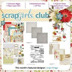 Scrap Girls March's Club Content was designed by Angie Briggs (digital scrapbooking kit)