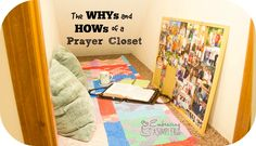 "Have you ever considered creating a ""prayer closet""... a place where you can go to alone, in privacy, to spend quality, focused prayer time? This is something I have found beneficial"