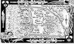 İki Nehir bölgesine ait kara kalem harita http://zamancarki.net/iki-nehir/