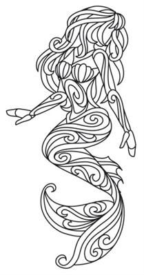 mermaids | Urban Threads: Unique and Awesome Embroidery Designs