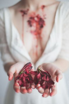 Hanahaki disease - an illness born from one sided love where the patient throws up and coughs up flower petals. The infection can be removed through surgery but the feelings disappear along with the petals. {Photo/makeup by Rina Dragunova} Body Photography, Creative Photography, Portrait Photography, Photography Basics, Photography Backdrops, Light Photography, Newborn Photography, Writing Inspiration, Character Inspiration