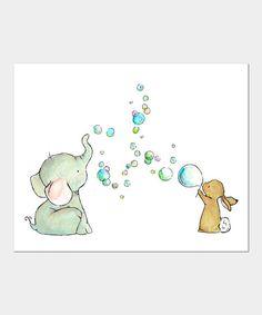 trafalgars square Bubble Party Print | zulily