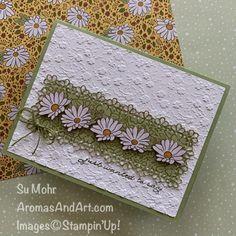 Ornate Garden Row of Daisies - Aromas and Art