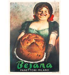 Manifesto panettone Besana, Gino Boccasile - advertisement poster