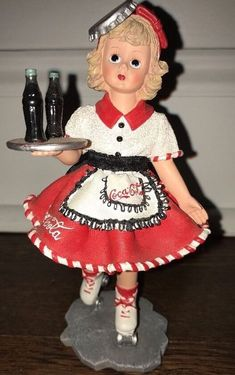 "Madame Alexander resin doll figurine Coca-Cola Carhop #90210 ""Doll Face"" 1999  | eBay"