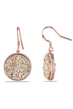 Rose Druzy Earrings I <3 these