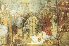 Olevano sul Tusciano.  Grotta di San Michele Arcangelo. Battesimo di Cristo. IX sec