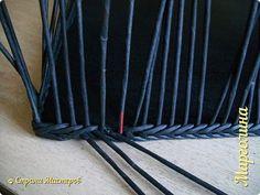 Мастер-класс Поделка изделие Декупаж Плетение Короб Лето от А до Я Бумага Бумага газетная Трубочки бумажные фото 13