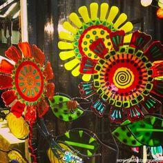 Glass Sunflower Art by www.katylareau.com