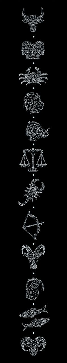 "Horoscope Illustrations for ""Awake Magazine"" on Behance"