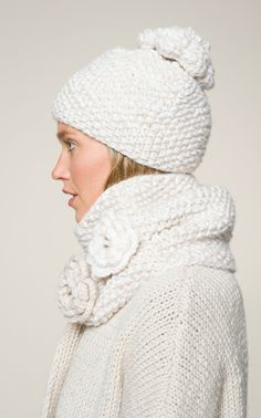 Novita Oy - Knitted hat and neck warmer [free pattern in Finnish ~ Google will translate]