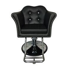 Melrose Styling Chair - The Melrose Styling chair is one of our most elegant, comfortable options. Features a beautiful crystal tufted backrest. Nail Salon Furniture, Spa Chair, Beauty Salon Equipment, Salon Interior Design, Salon Chairs, Salon Ideas, Beauty Shop, Shop Signs, Foot Rest