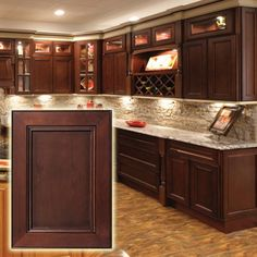 If you adulation adequate affable spaces abounding with rustic elements, you're not alone. According to a 2019 trend address from the National Kitchen and Bath Cabinet Paint Colors, Kitchen Paint Colors, Kitchen Redo, Kitchen Remodel, Kitchen Ideas, Wood Cabinets, Dark Cabinets, Discount Kitchen Cabinets, Coffee Cabinet