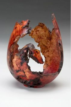"*Wood Sculpture - ""Manzanita Burl Vessel"" by Dan Tilden"