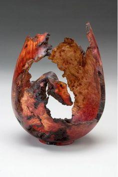"""*Wood Sculpture - """"Manzanita Burl Vessel"""" by Dan Tilden"""