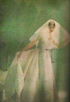 Brides Harper's Bazaar April 1958  Photo by Lillian Bassman